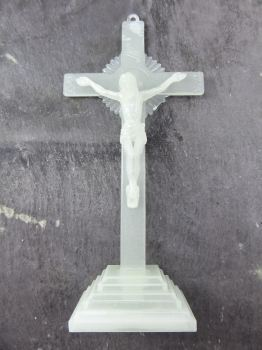 "6"" 15cm luminous glow in the dark corpus Jesus standing cross ornament gift"