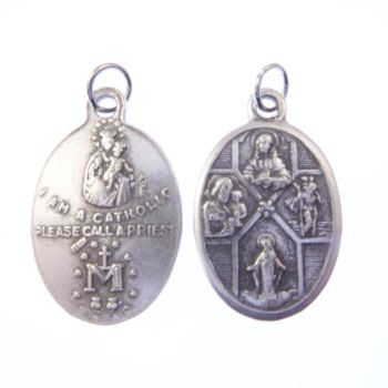 Silver Four Way medal 2cm