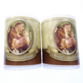 St. Anthony votive candle 24 hour burn 2.5 inch x 2
