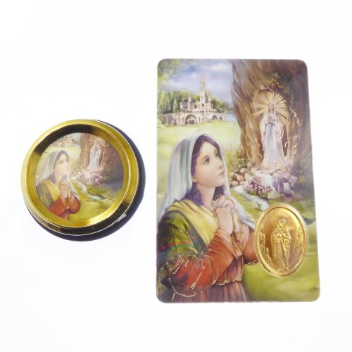 Catholic Our Lady of Lourdes car plaque gift magnet