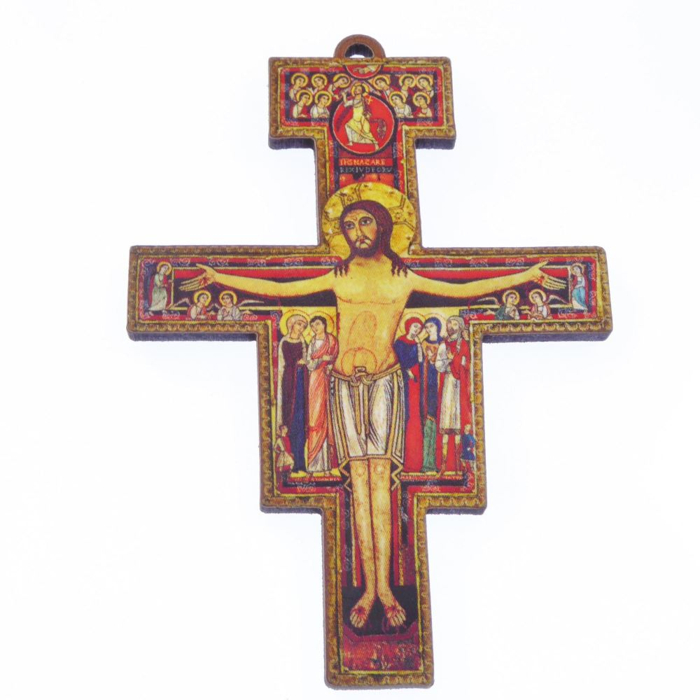 8.8cm wooden St. Francis of Assisi cross