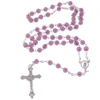 Catholic rosary beads in purple colour