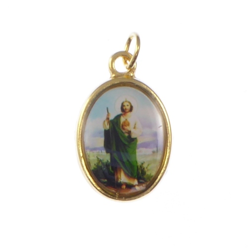 Rosary medal - St. Jude of Thaddeus - gold