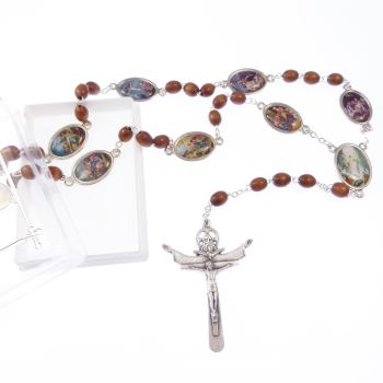 Stations of the Cross rosary beads in gift box
