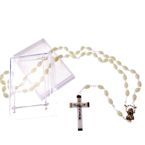 Strong rosary beads that glow in the dark - gift boxed