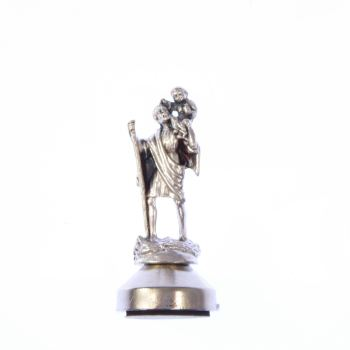 Catholic Saint Christopher statue, adhesive and magnetic