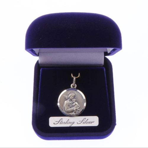 Sterling silver St. Joseph gift boxed medal 20mm
