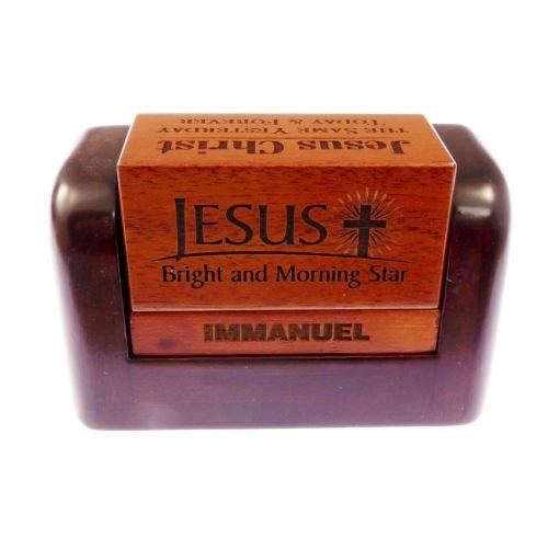 Jesus daily verse solid mahogany desktop gift