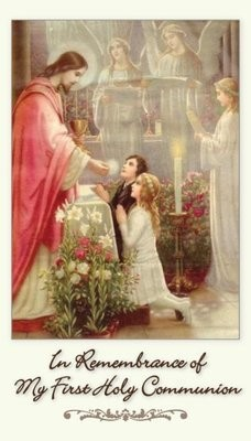 In remembrance of my First Holy Communion prayer card