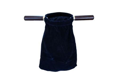 Dark blue velvet church offering bag 14