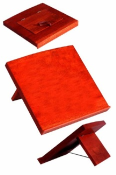 "Wood wooden bible book stand folds flat table top 14"" (36cm) Christian gift"
