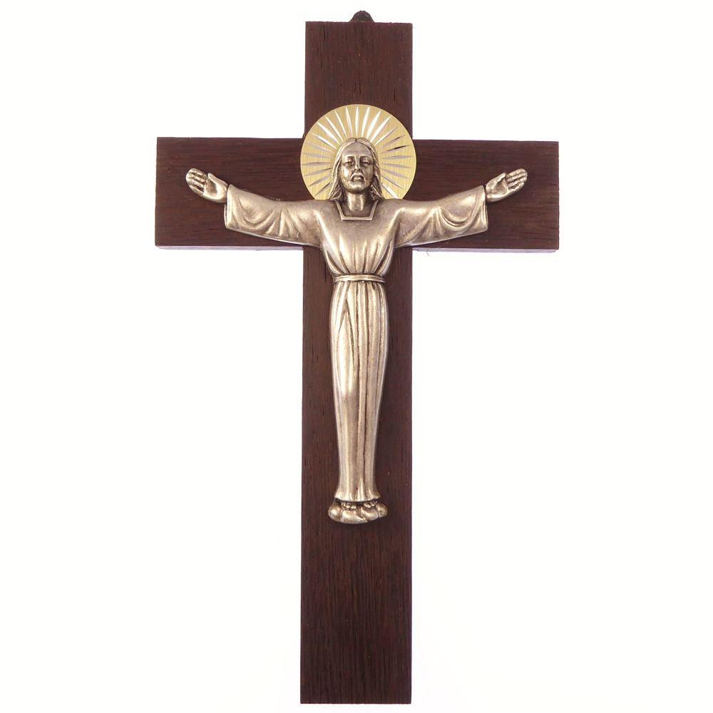 Wood Wall Hanging Risen Christ Cross 8 Quot 20cm Gift Metal