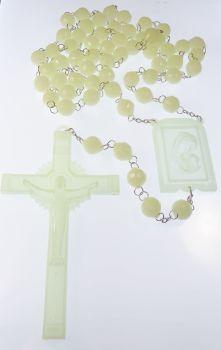 """Very large luminous glow in the dark wall rosary beads 1.5m Catholic gift 59"""""""