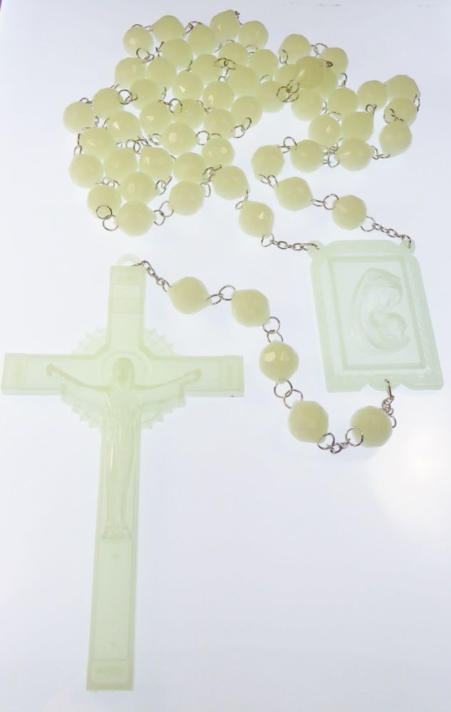 Very large luminous glow in the dark wall rosary beads 1.5m Catholic gift 5