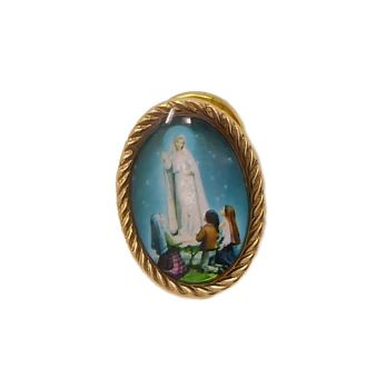 Our Lady of Fatima pin badge button Catholic gift 2.4cm