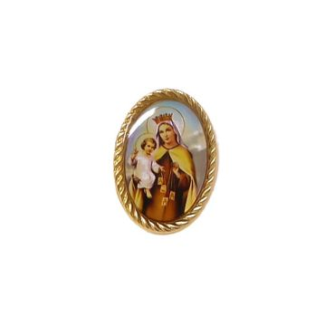 Our Lady of Mount Carmel pin badge button Catholic gift 2.4cm