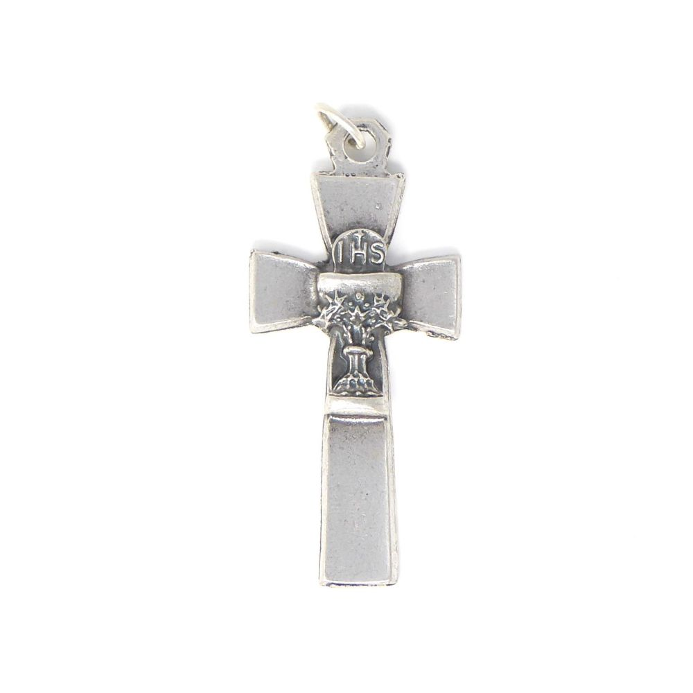 3.5cm Holy Communion chalice silver colour metal Catholic cross