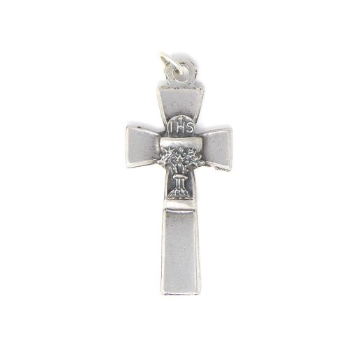 3.5cm Holy Communion chalice silver colour metal Catholic cross