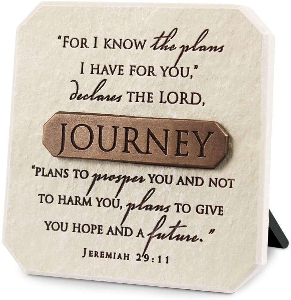 Christian Journey Jeremiah plaque picture standing or wall Bronze detail 10