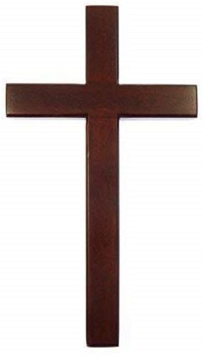 40cm wooden mahogany large wall hanging cross