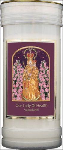 Our Lady of Health Vailankanni Candle 72 Hour Burn Prayer Saint Catholic 15