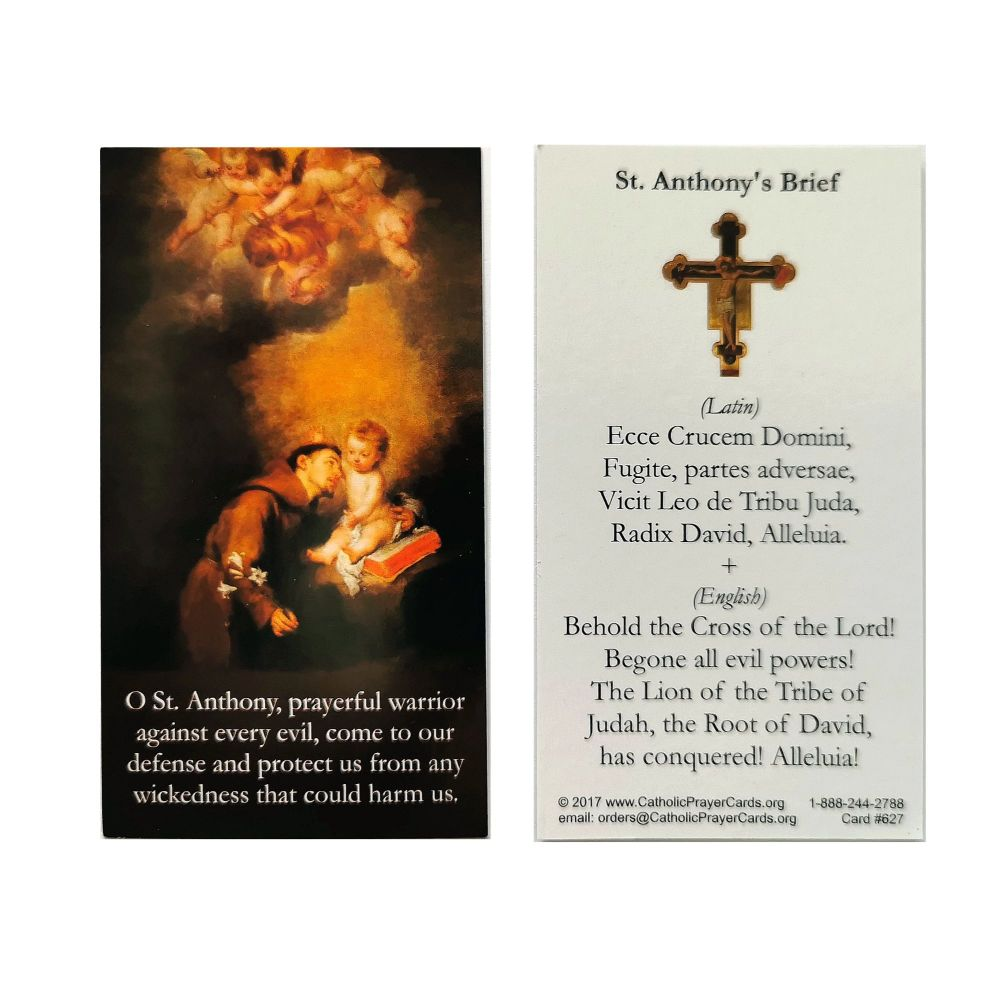 St. Anthony's Brief prayer card 9cm wallet size