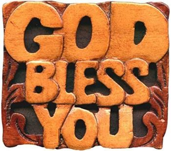 Magnet Mahogany - God Bless You - 2.5in X 2.5in