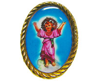 Divine Child gold pin badge