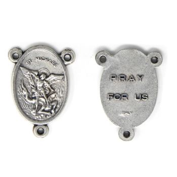 St. Michael Silver Metal Center Piece Part for Making Rosary Beads 2.5cm