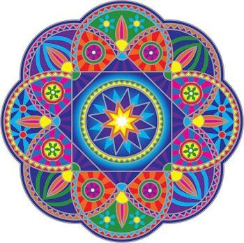 Sunburst Mandala Sun Catcher Sticker for Windows and Doors 15cm