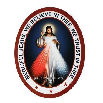 Divine Mercy Jesus Double Sided Window Sticker 9.2cm