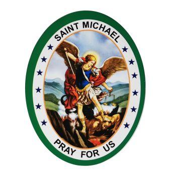 St. Michael Double Sided Window Sticker 9.2cm