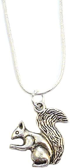 2cm squirrel pendant on silver 17