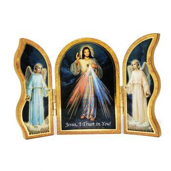 Triptych Divine Mercy Folding Plaque or Triptych