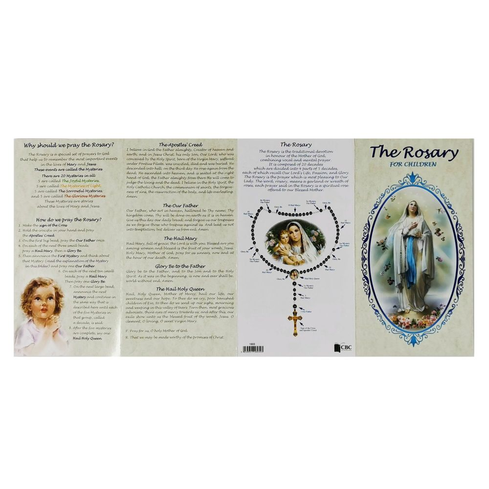 18cm How to Pray the Rosary booklet for Children pamphlet