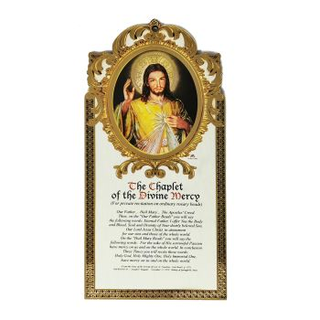 21cm The Chaplet of the Divine Mercy prayer wall plaque