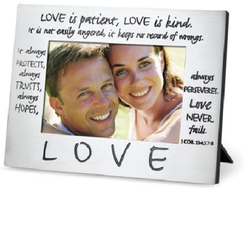 Friends Encourage One Another Brushed Grey 6.75 x 8.75 metal Photo Frame