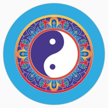 Yin Yang magnet 6cm for metal surfaces balance and coming together