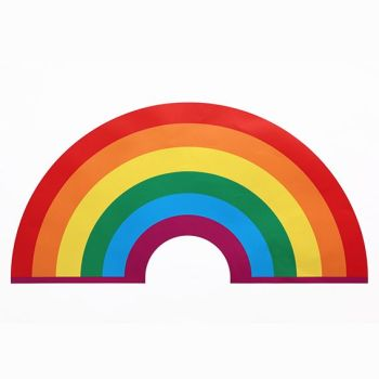 Rainbow magnet 9cm for metal surfaces vibrant colours