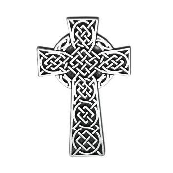 Celtic cross car visor metal auto clip 6cm Catholic drivers gift