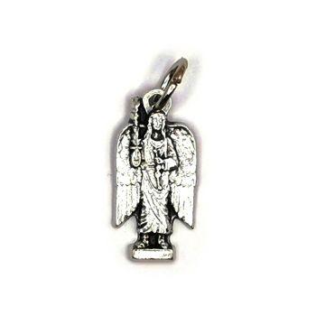 Archangel Michael silhouette medal silver colour medal 2cm
