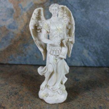 Archangel Gabriel Statue Cream 12cm resin figurine ornament
