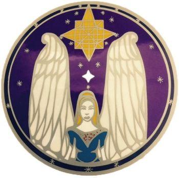 Guardian Angel Sun Catcher Sticker Sunseal for Windows and Doors 15cm Divine Guidance