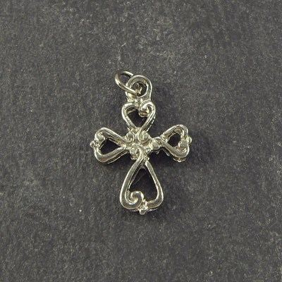 Rosary cross crucifix - silver plated