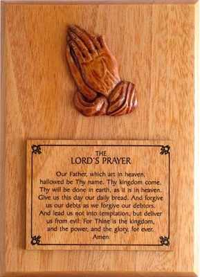 The Lord's Prayer Christian wooden wall plaque gift