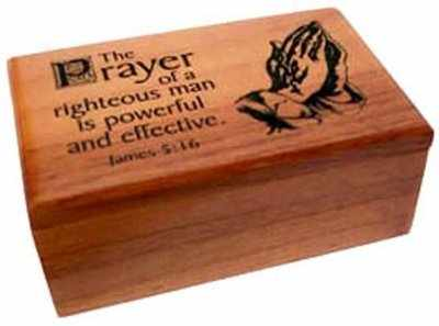 Christian wood The Prayer of a righteous man box gift