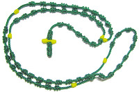 Knotted rosary beads