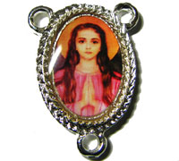 St. Philomena Catholic center silver rosary beads part