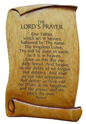Christian Lord's Prayer scroll plaque 15cm