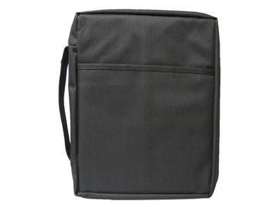 Extra large plain black canvas bible cover 8